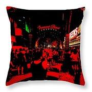 Vegas At Night Throw Pillow