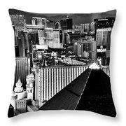 Vegas Black And White Throw Pillow