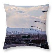 Vegas Cityscape Throw Pillow