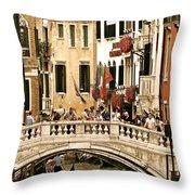 Vegas Or Venice Throw Pillow