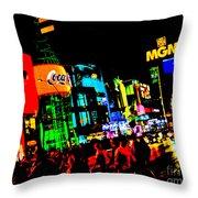 Vegas Lights Throw Pillow