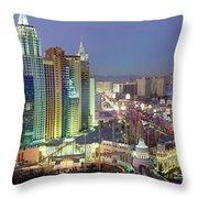 Vegas Skyline Throw Pillow