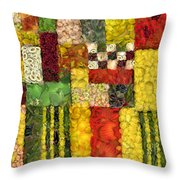 Vegetable Abstract Throw Pillow