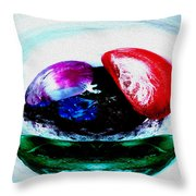Vegetables And Gemstones Throw Pillow