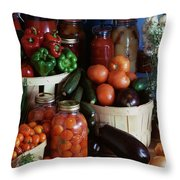 Vegetables For Pickling Throw Pillow