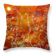 Vegetation On Mars Throw Pillow