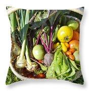 Veggie Delight Throw Pillow