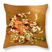 Veggie Flakes Throw Pillow
