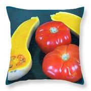 Veggies And Colors Throw Pillow