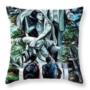 Veil Lifted Throw Pillow