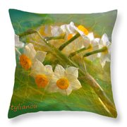 Veil On  Narcissus Throw Pillow