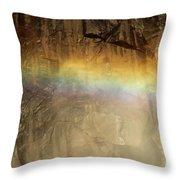 Veiled By A Rainbow Throw Pillow