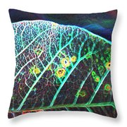 Veins Of Color Throw Pillow