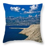 Velebit Mountain From Island Of Pag Throw Pillow
