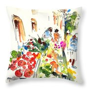 Velez Rubio Market 03 Throw Pillow