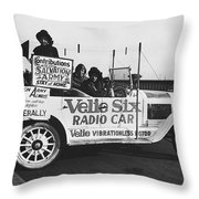 Velie Six Radio Car Throw Pillow