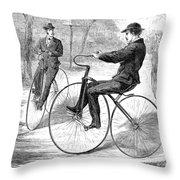 Velocipedes, 1868 Throw Pillow