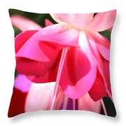 Velvet Fuchsia Skirt Throw Pillow