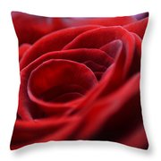 Velvet In Red Throw Pillow