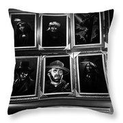 Velvet Paintings Us/mexico Border Town Tijuana Baja California Mexico 1976 Throw Pillow