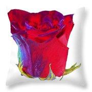 Velvet Rose Bud 2 Throw Pillow