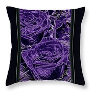 Velvet Sterling  Throw Pillow