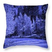 Velvet Winter - Vail - Colorado Throw Pillow