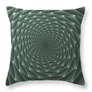 Velveteen Vortex Gray Throw Pillow