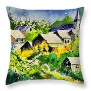 Vencimont Watercolor  Throw Pillow