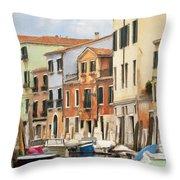 Venetian Apartments Impasto Throw Pillow