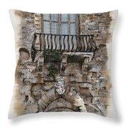 Venetian Balcony 02 Elena Yakubovich Throw Pillow