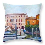 Venetian Cityscape Throw Pillow