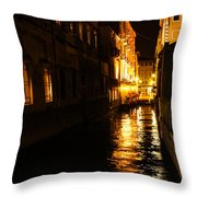 Venetian Golden Glow Throw Pillow