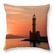 Venetian Lighthouse Throw Pillow