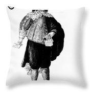 Venetian Man, 18th Century Throw Pillow