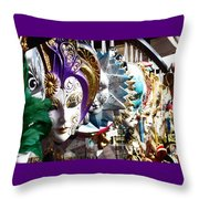Venetian Masks 1 Throw Pillow