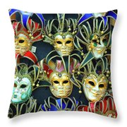 Venetian Opera Masks Throw Pillow