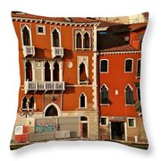 Venetian Red Throw Pillow