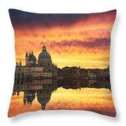 Venetian Reflections Throw Pillow
