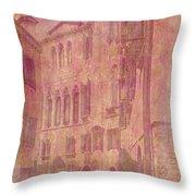 Venetian Rose Water Throw Pillow
