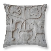 Venetian Stone Carving Throw Pillow