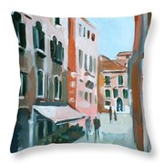 Venetian Street Throw Pillow