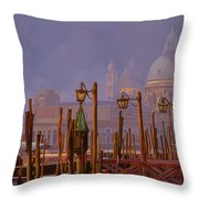 Venezia E La Nebbia Throw Pillow