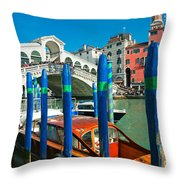 Venice - Rialto Throw Pillow
