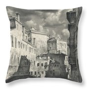 Venice. A View From The Other Bridge Throw Pillow