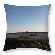Venice Beach Pier Throw Pillow
