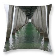 Venice Beach Pier Structure Throw Pillow