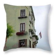 Venice Building Throw Pillow