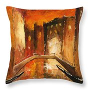 Venice By Night 07 Throw Pillow