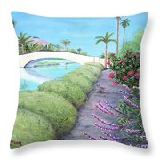 Venice California Canals Throw Pillow